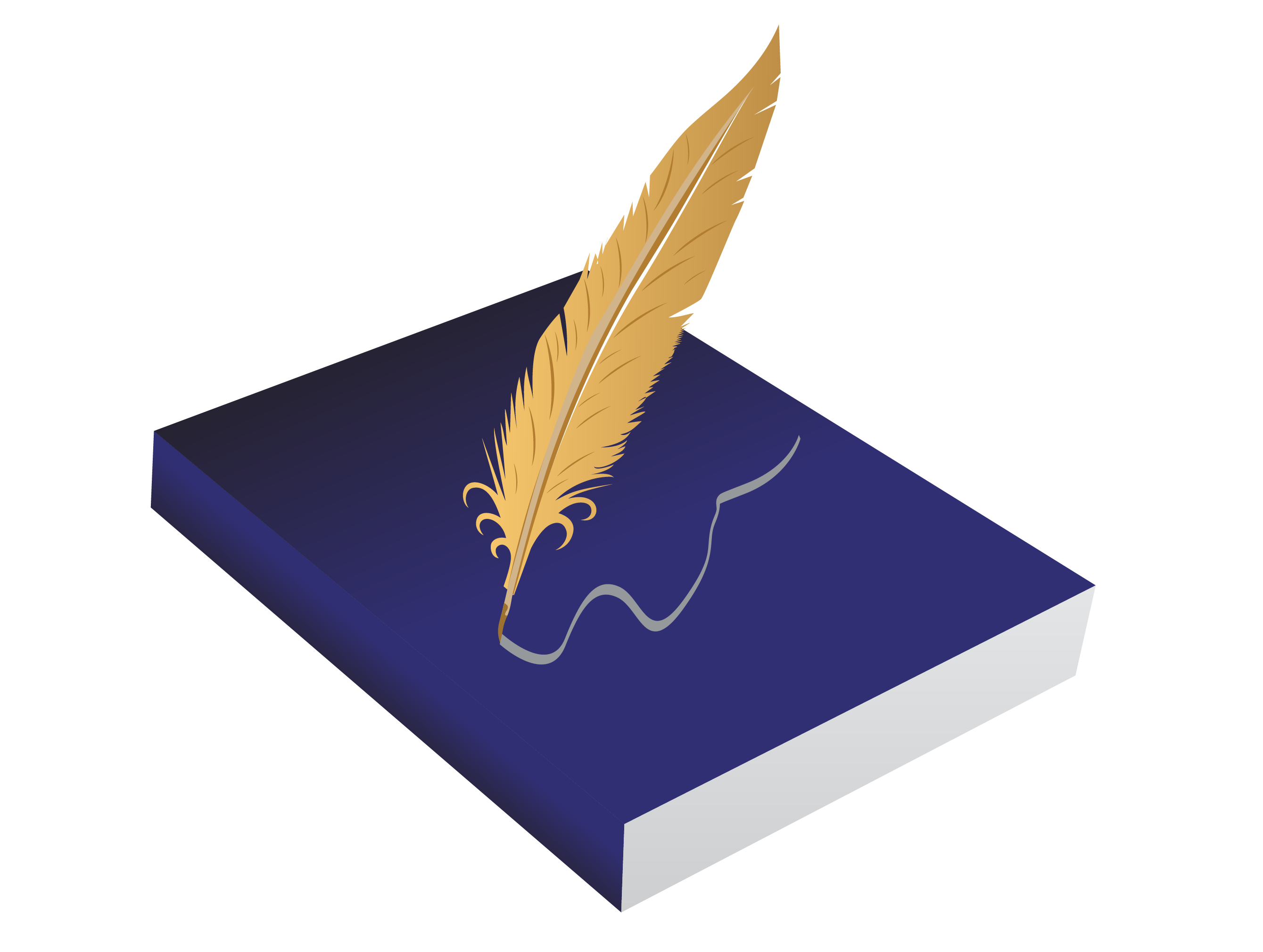 Drawing Feather Clip art - Book quill 2679*2020 transprent Png Free ... image library library