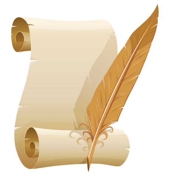 Free clipart for book and quill png royalty free download Scrolled Paper and Quill Pen PNG Clipart Image | Clip art ... png royalty free download
