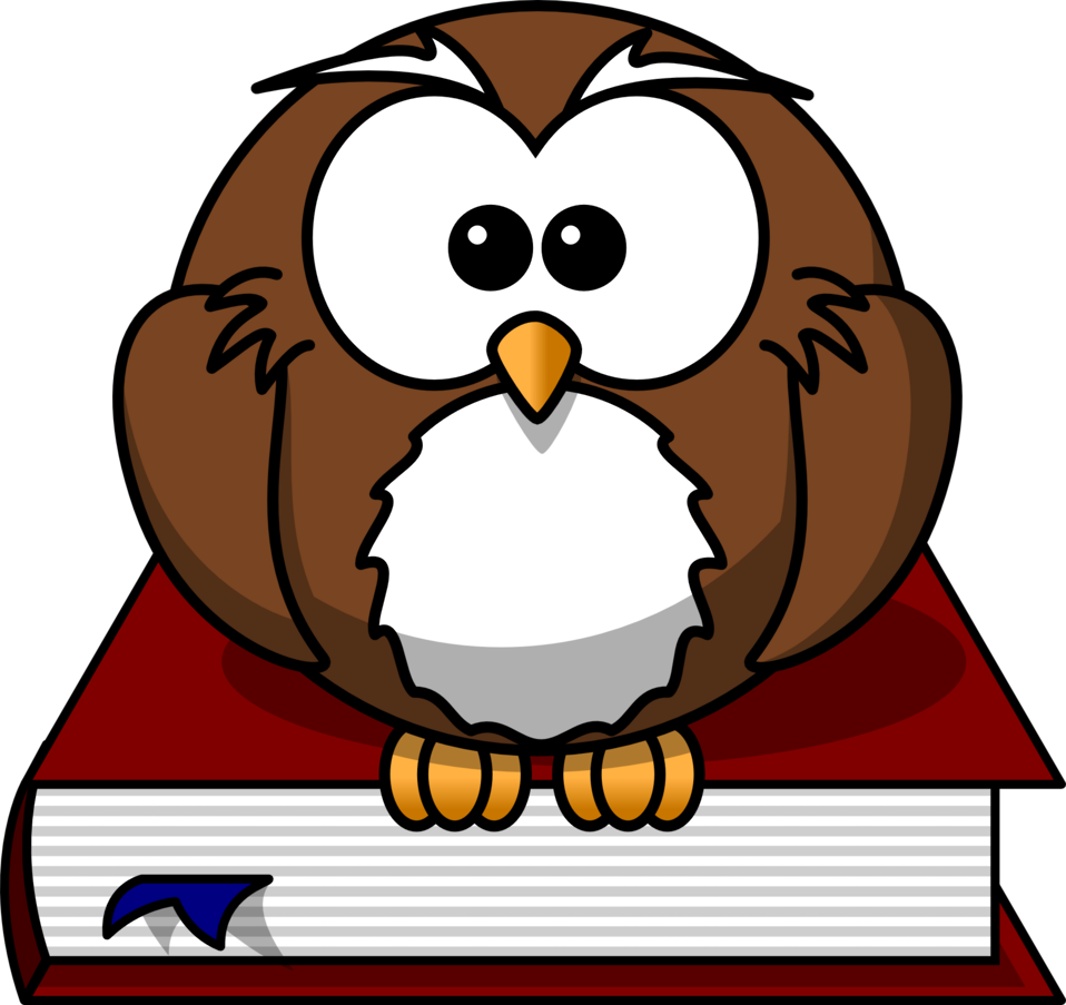 Cartoon book clipart graphic Public Domain Clip Art Image | Cartoon owl sitting on a book | ID ... graphic