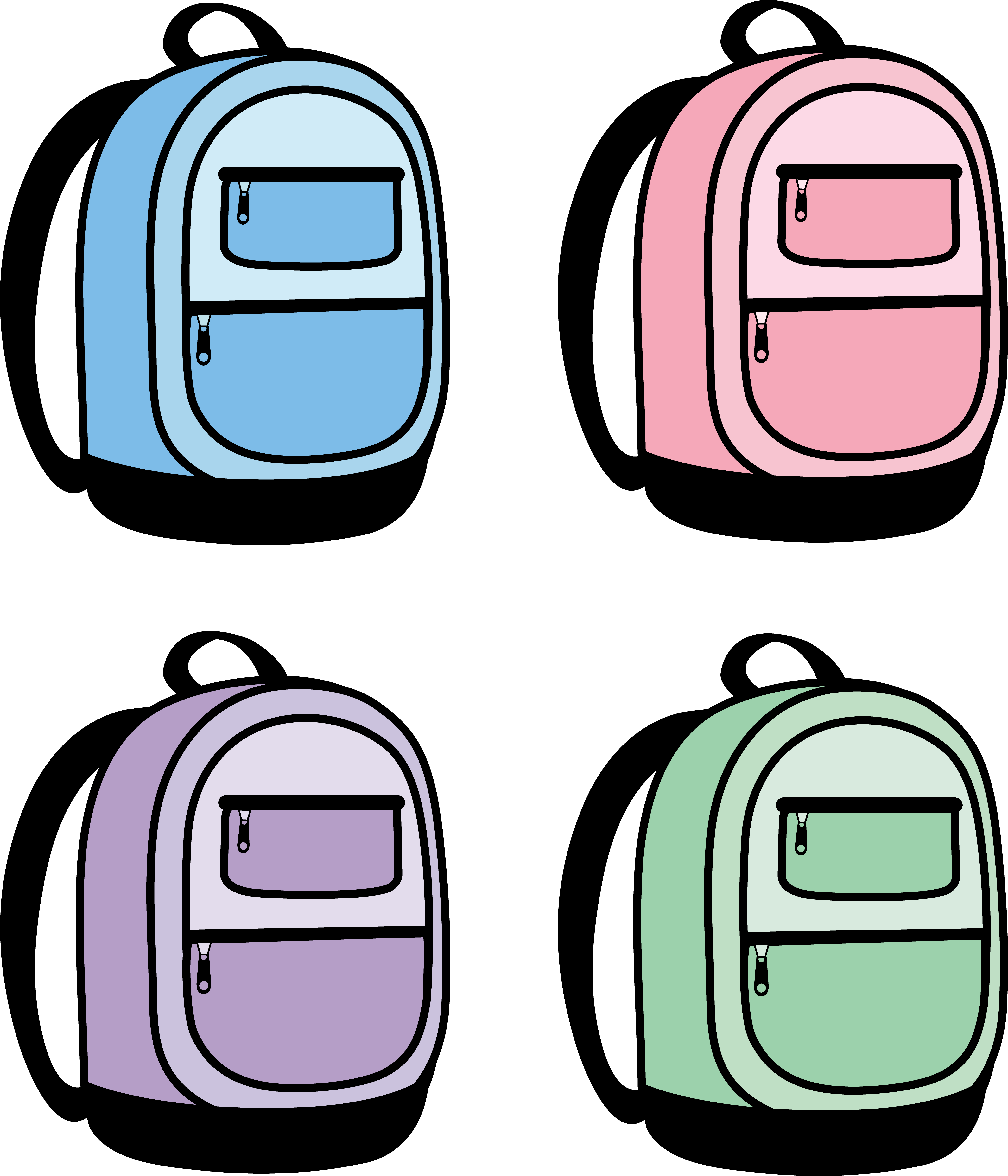 Bookbag Clipart | Clipart Panda - Free Clipart Images picture black and white download