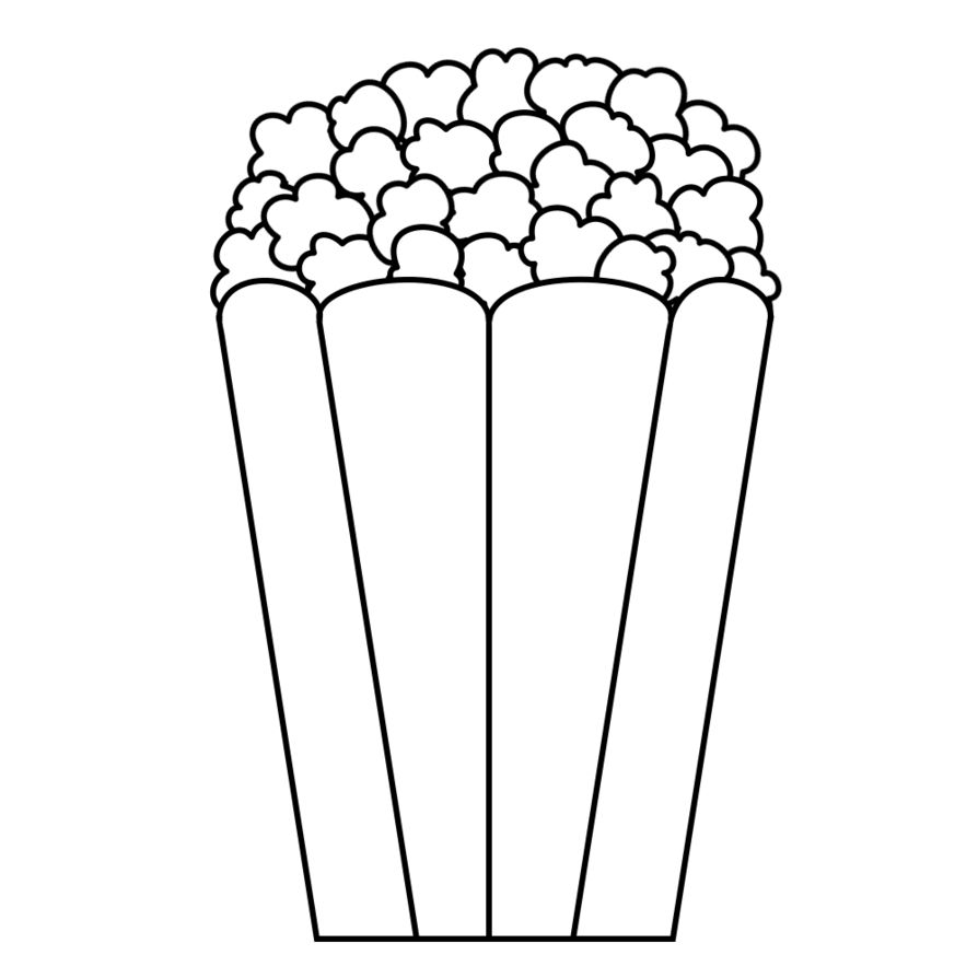 28+ Collection of Popcorn Bucket Clipart Black And White | High ... picture transparent stock