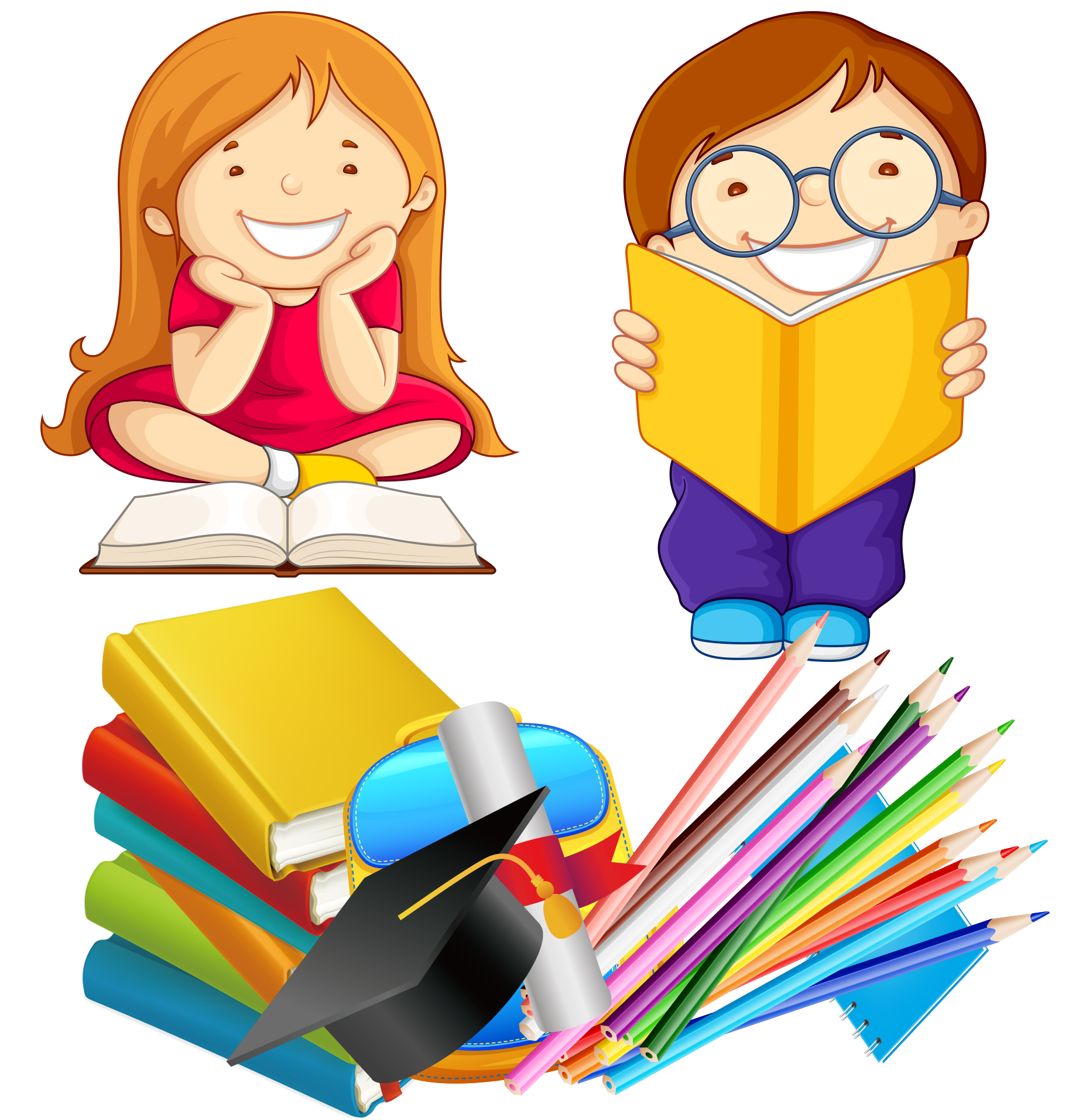 Child reading book clipart image free stock Child Reading Book - Pencil bag 1855*1912 transprent Png Free ... image free stock