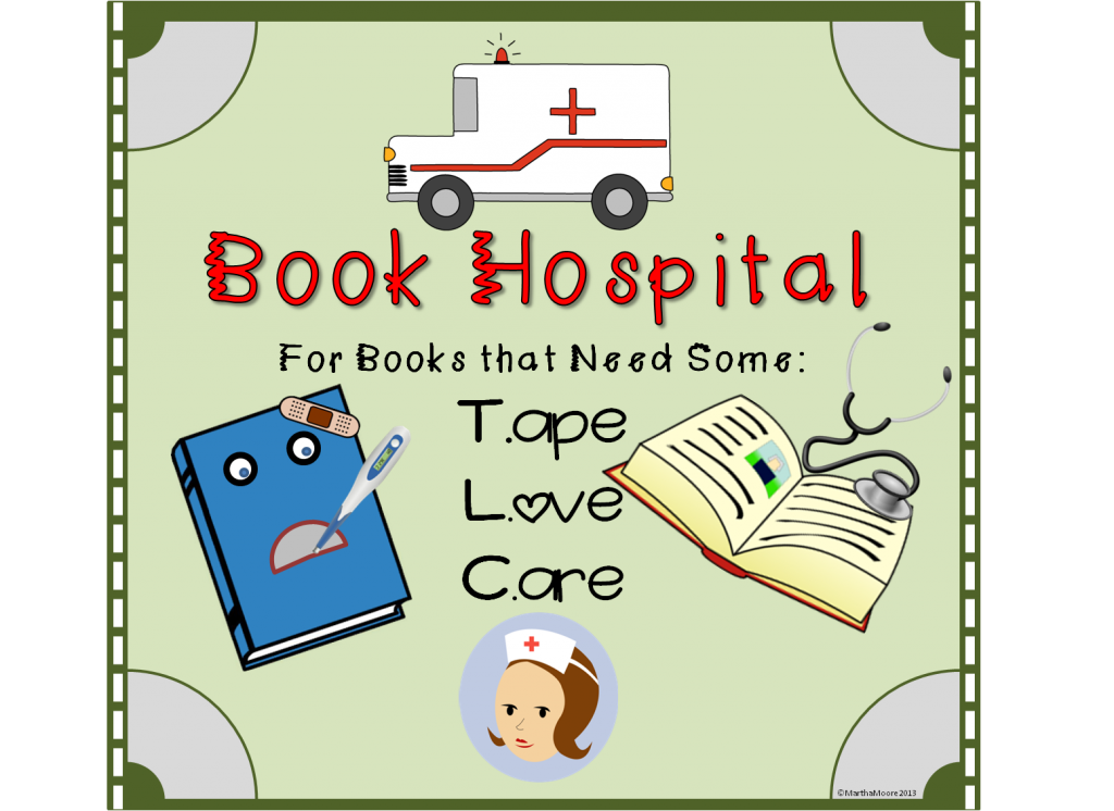Book bin clipart jpg royalty free library DIY Book Hospital - | Pinterest | Book hospital, Hospital signs and ... jpg royalty free library