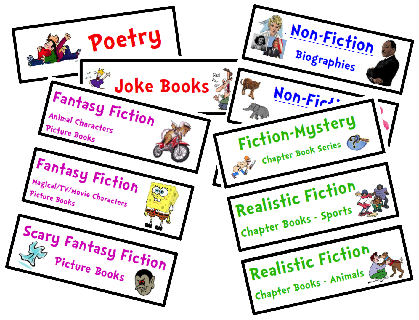 Book bin clipart clip art freeuse stock Organize Your Classroom Library {FREE Genre Bin Labels} | clip art freeuse stock