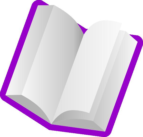 Purple book clipart