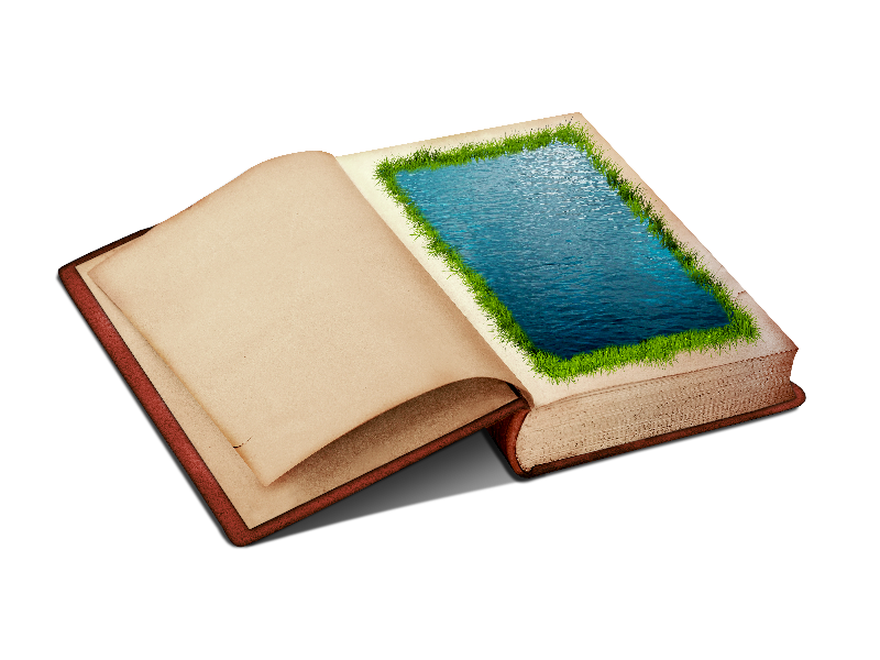 Old book cover clipart picture freeuse Open Book PNG Clipart With Water Page And Grass Border (Isolated ... picture freeuse