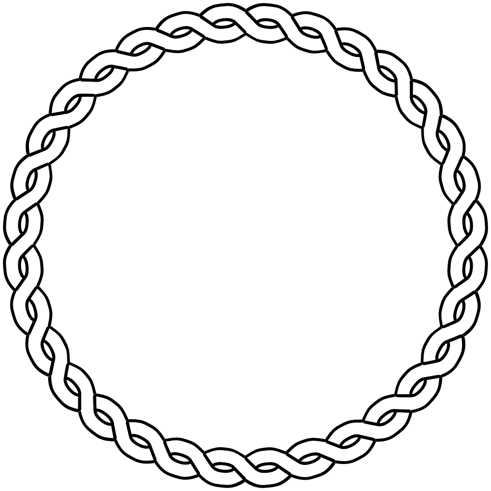 Nautical Rope Border | Rope Border Circle Dna Black White Line Art ... vector library download