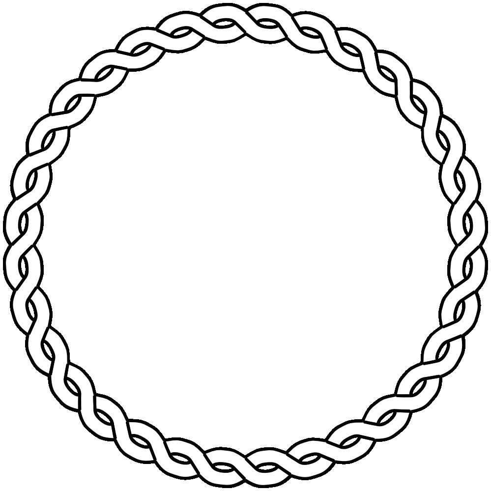 Book border clipart graphic black and white Nautical Rope Border | Rope Border Circle Dna Black White Line Art ... graphic black and white