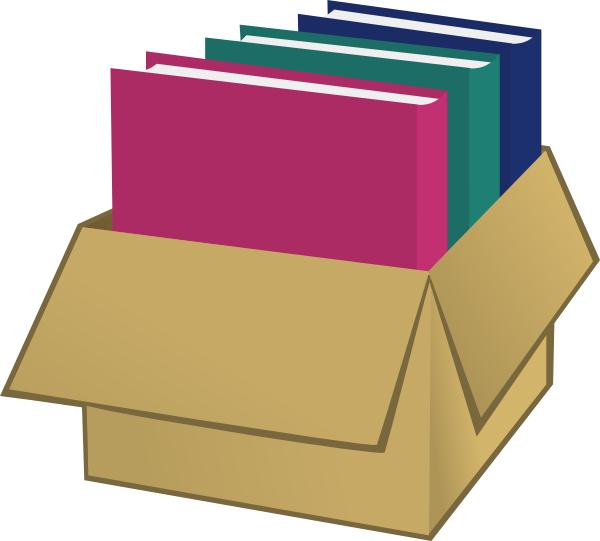 Book box clipart clip free library Box With Folders Clip Art at Clker.com - vector clip art online ... clip free library