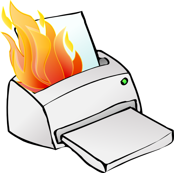 Book burning clipart picture black and white library Printer Burning Clip Art at Clker.com - vector clip art online ... picture black and white library
