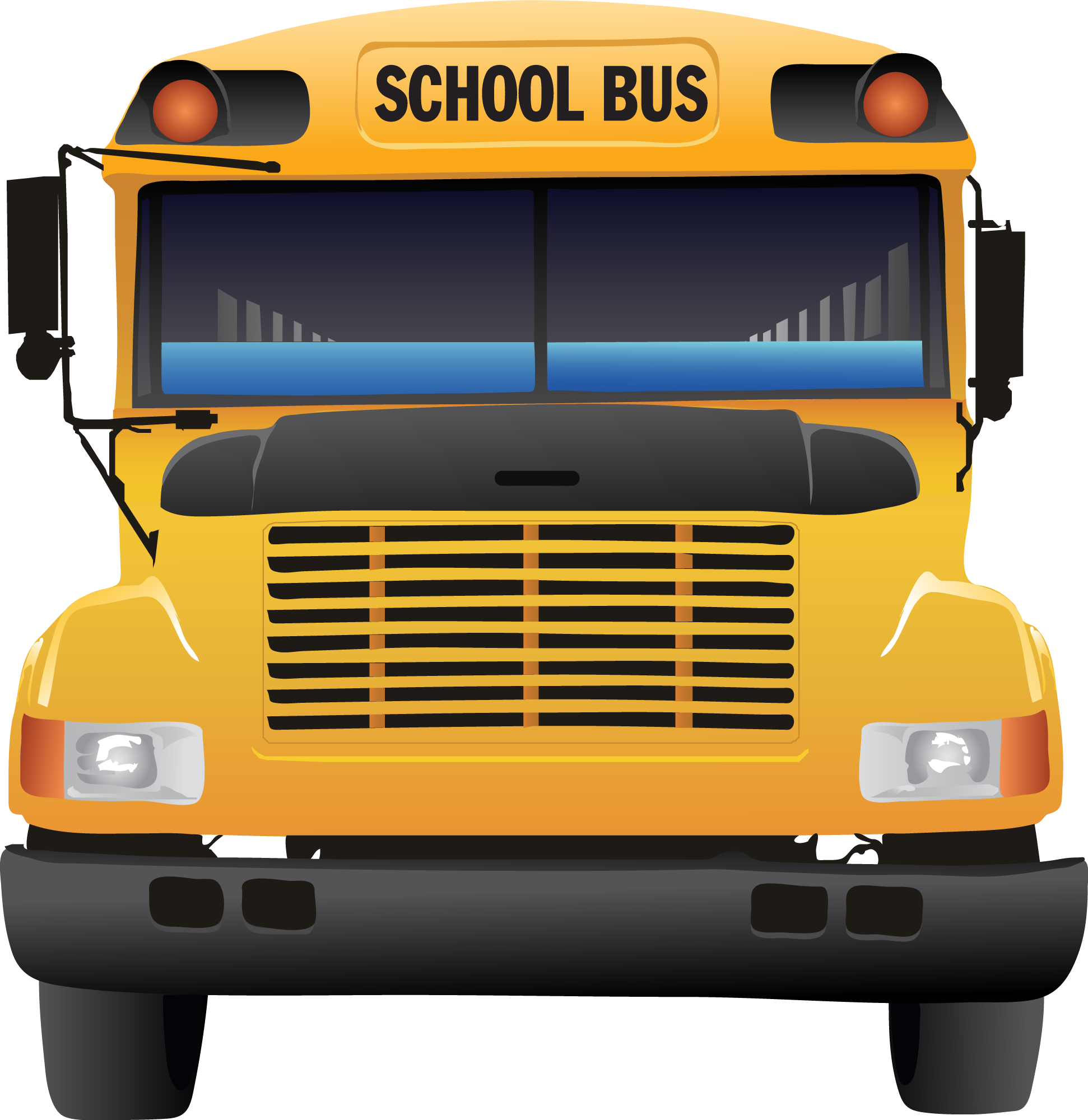 School bus front clipart vector black and white library School Bus from Clipart Collection Version 1.0 (1) ©2012 Macmanus ... vector black and white library