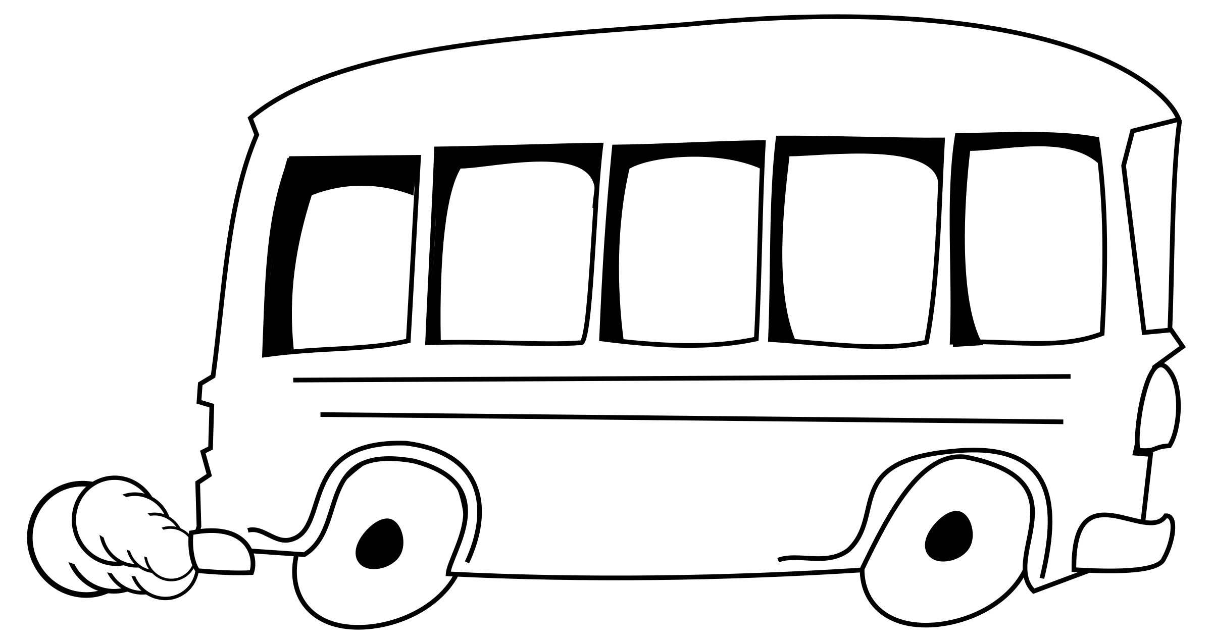 Clipart - bus banner transparent library