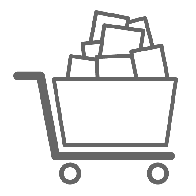 Book cart clipart svg download Shopping cart - Free icon material svg download