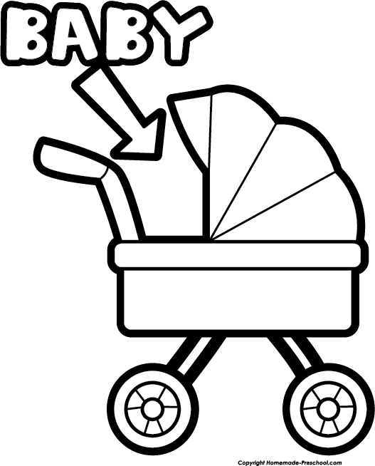 Book cart clipart clipart free download Baby Shower Clipart clipart free download