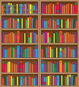 Book case clipart transparent download Bookcase with Lots of Book Clipart Image - Acclaim Stock Photography transparent download