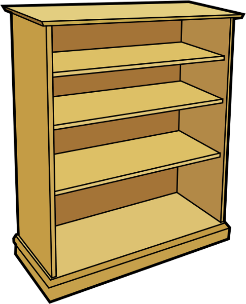 Book case clipart svg free download Free Bookcase Clipart, 1 page of Public Domain Clip Art svg free download