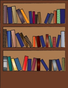 Book case clipart clipart transparent stock Bookcase Clipart - Clipart Kid clipart transparent stock