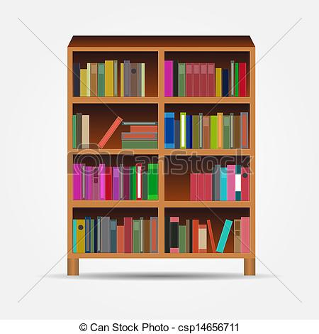 Book case clipart image library library Vector Clip Art of bookcase vector illustration csp13231115 ... image library library