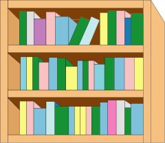 Book case clipart svg freeuse download Bookcase Clipart - Clipart Kid svg freeuse download
