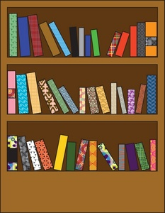 Book case clipart picture Bookshelf Clipart - Clipart Kid picture