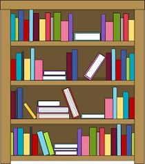 Book case clipart picture black and white stock Free Bookcase Clipart picture black and white stock