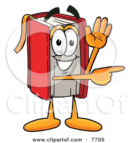 Book character clipart banner black and white library Clipart Picture of a Red Book Mascot Cartoon Character With ... banner black and white library