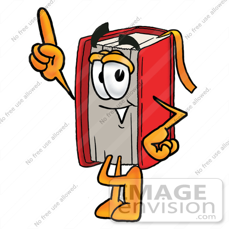 Royalty stock cartoons page. Book character clipart free