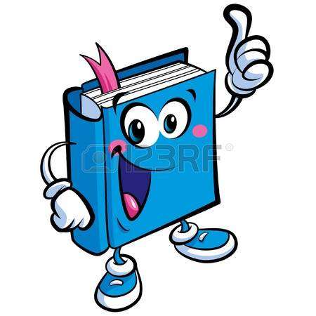 literature stock vector. Book character clipart free