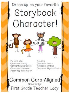Book character costume clipart png black and white parent letter for storybook character day | My First Grade ... png black and white