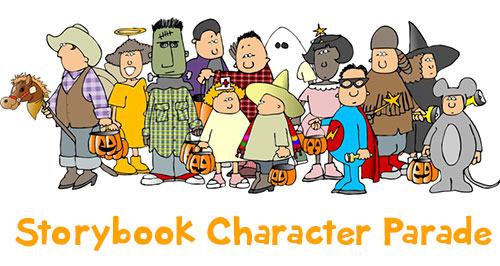 Book character parade clipart vector library stock Storybook Character Parade » Howard Drive PTA vector library stock