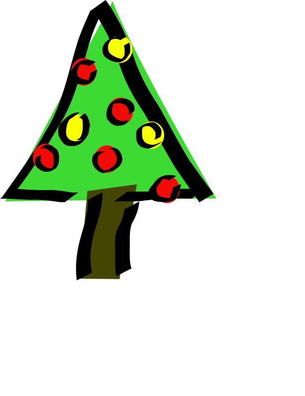 Book christmas tree clipart svg transparent stock Christmas Tree | Free Stock Photo | Illustration of a decorated ... svg transparent stock