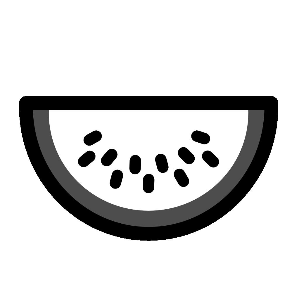 Book clipart black and white icon free clipartist.net » Clip Art » watermelon icon black white food ... free