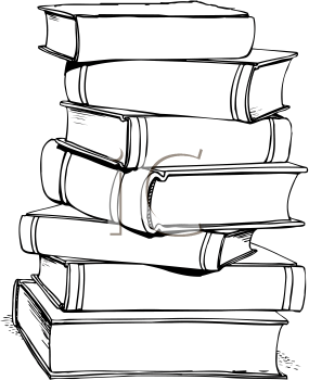 Stack of books spine clipart black and white jpg freeuse stock Books Clip Art | Royalty Free School Book Clip art, School Clipart ... jpg freeuse stock