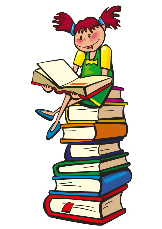 Free animated reading clipart. School book pictures download