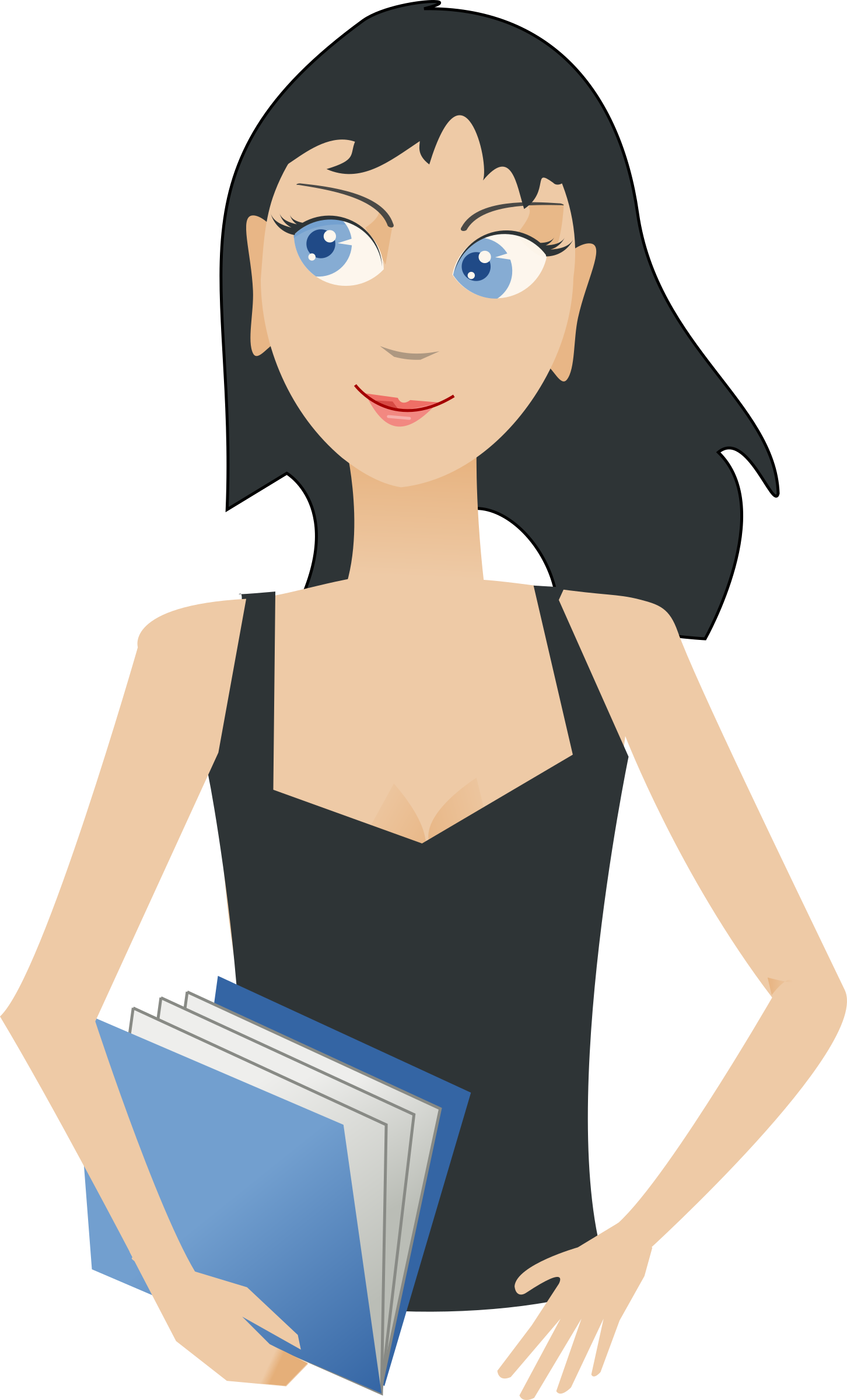 Girl book clipart image library stock Clipart - student - girl with book image library stock