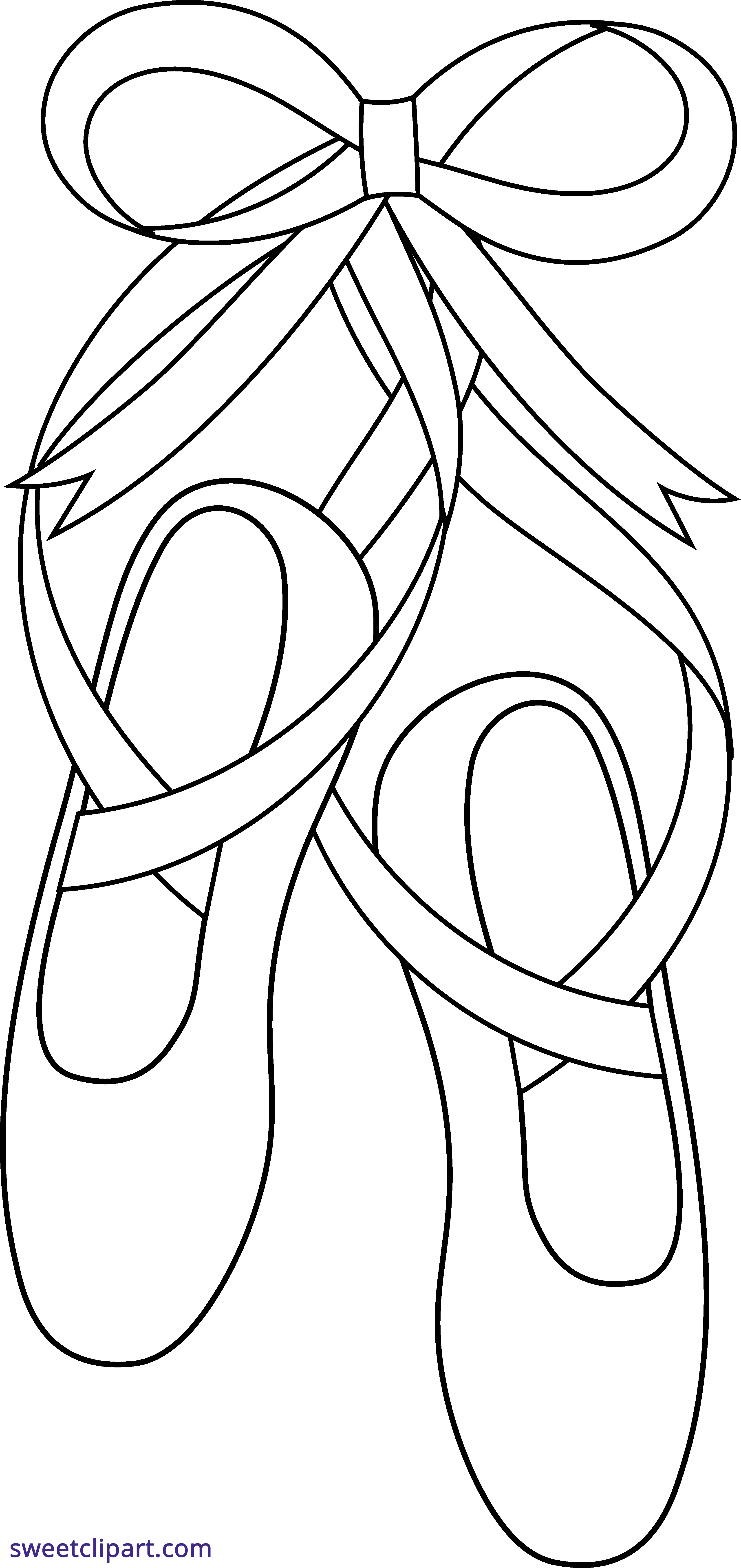 Ballet Shoes Outline Clipart - Sweet Clip Art picture library stock