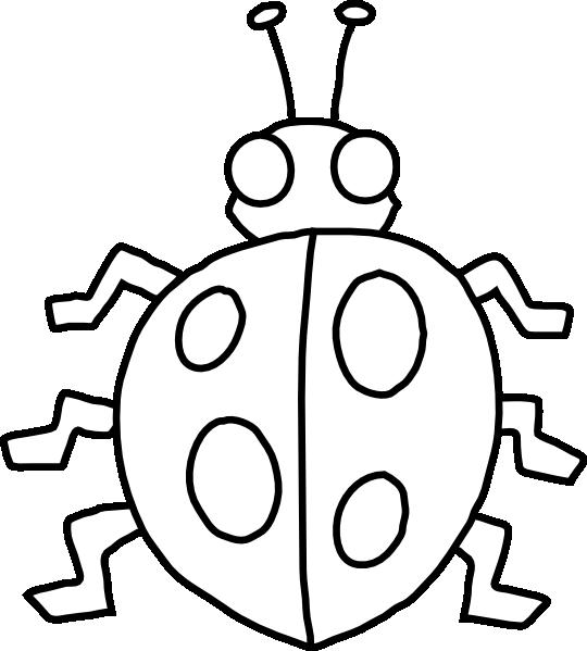 Book clipart outline clip art freeuse stock Ladybug Outline Clip Art at Clker.com - vector clip art online ... clip art freeuse stock