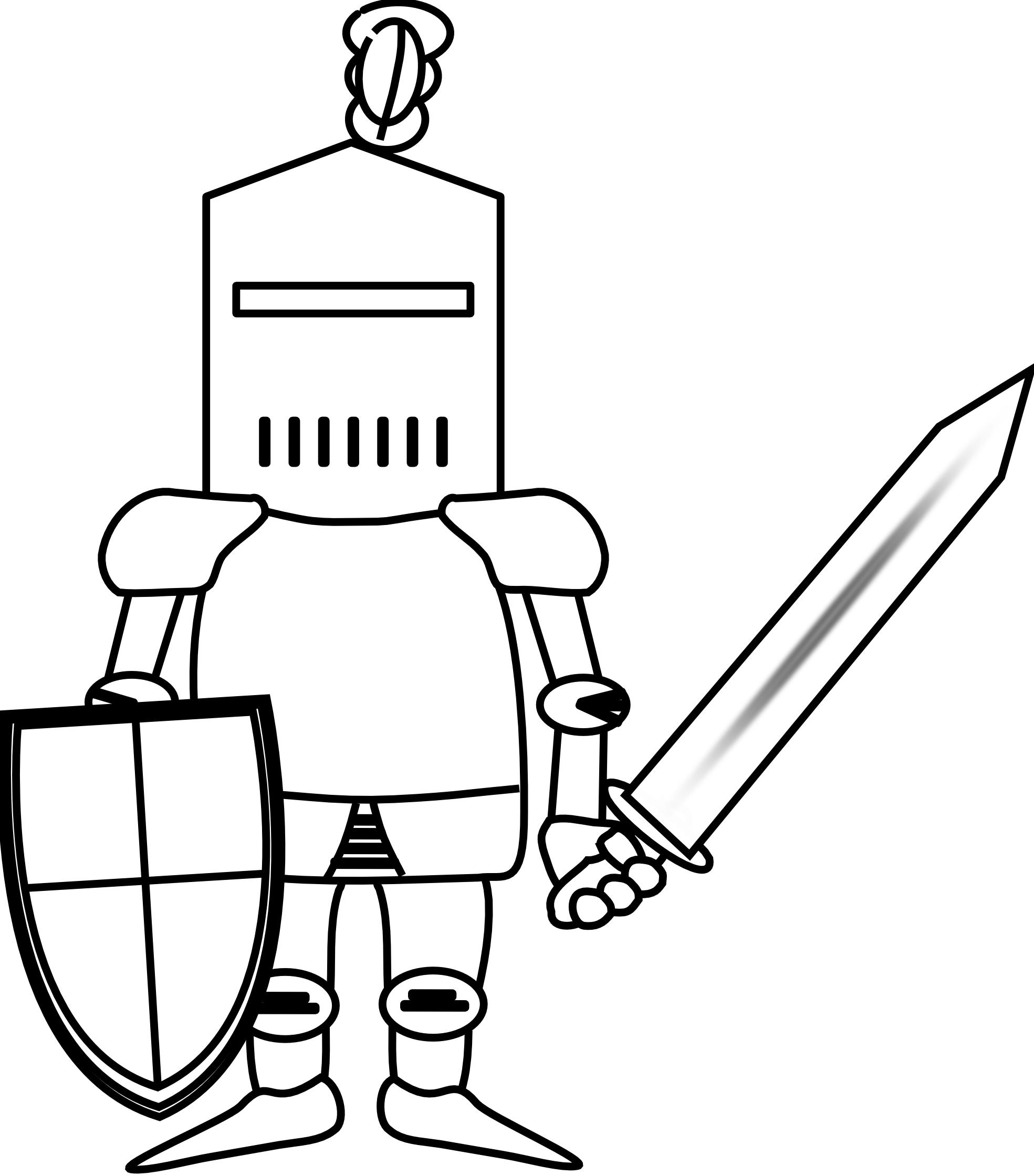 Knight outline clipart free download