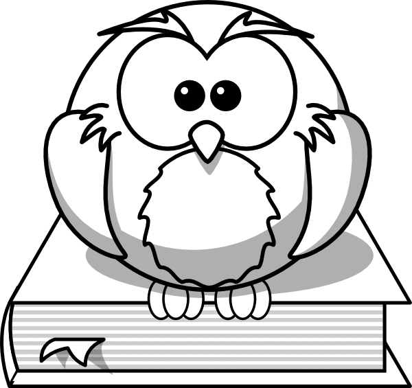 Owl reading book clipart vector transparent download Owl On Book Outline Clip Art at Clker.com - vector clip art online ... vector transparent download