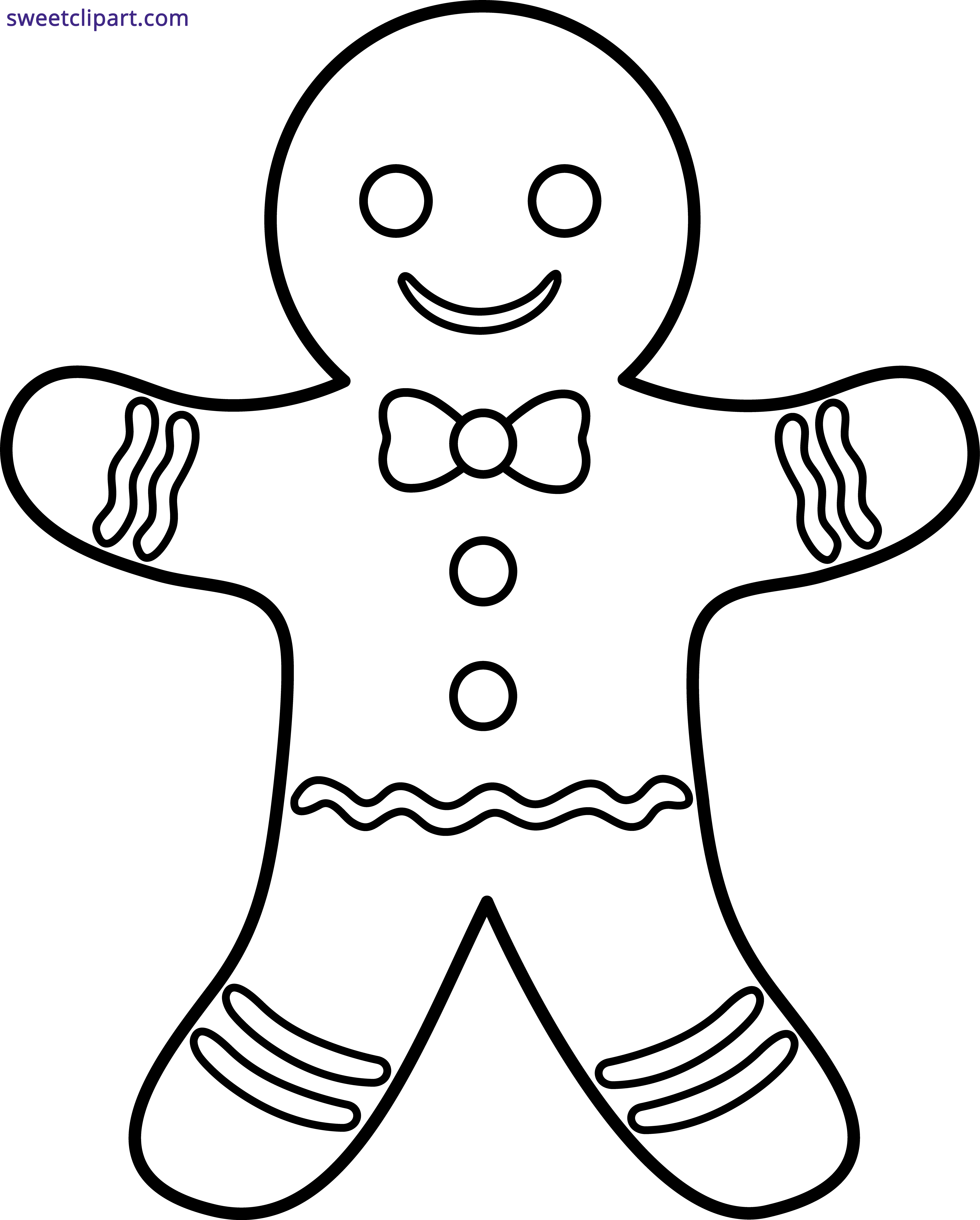 Man with book clipart jpg royalty free Gingerbread Man Outline Clipart - Sweet Clip Art jpg royalty free