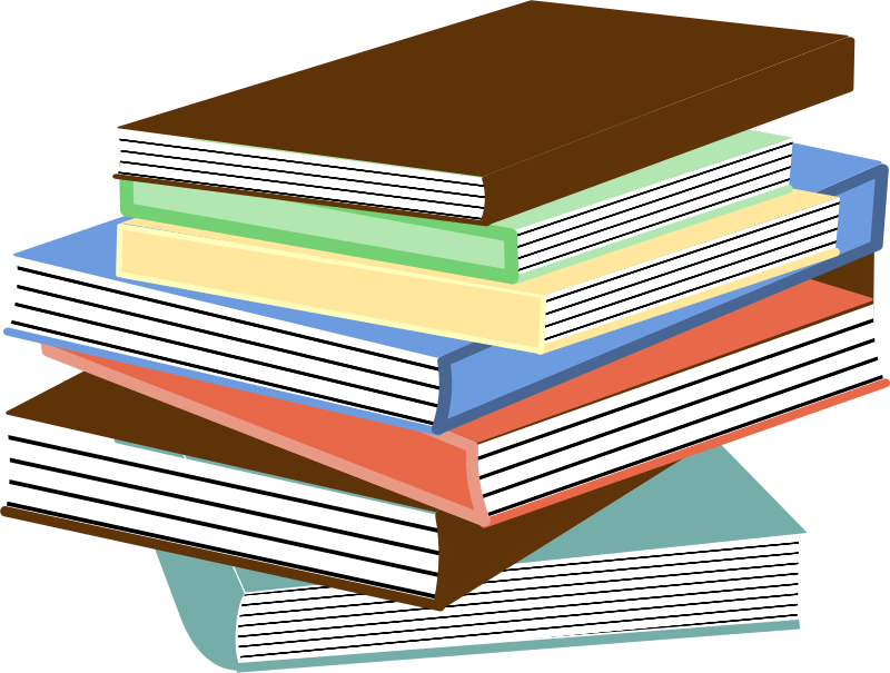 Clipart - stack of books 01 clip library stock