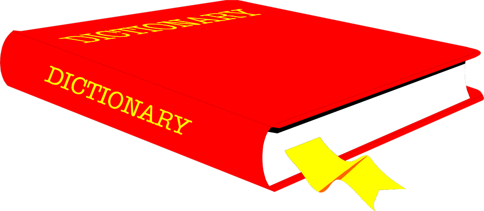 Dictionary book clipart image Book | Free Stock Photo | Illustration of a dictionary | # 7597 image