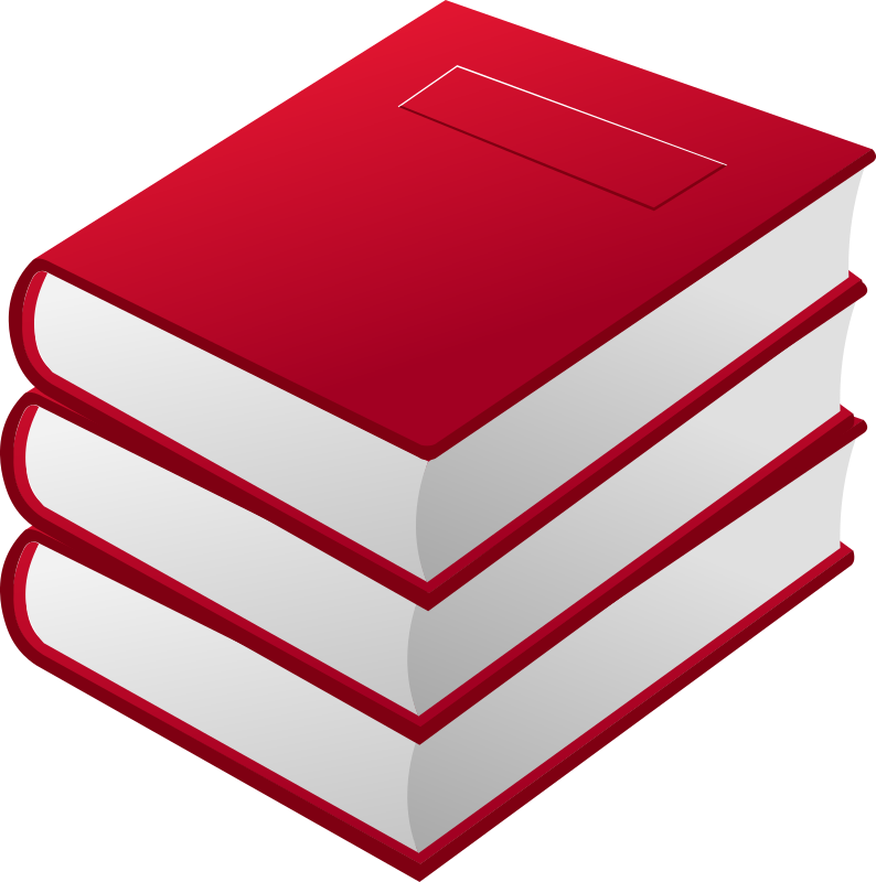 Book clipart red png library download Clipart - 3 red books png library download