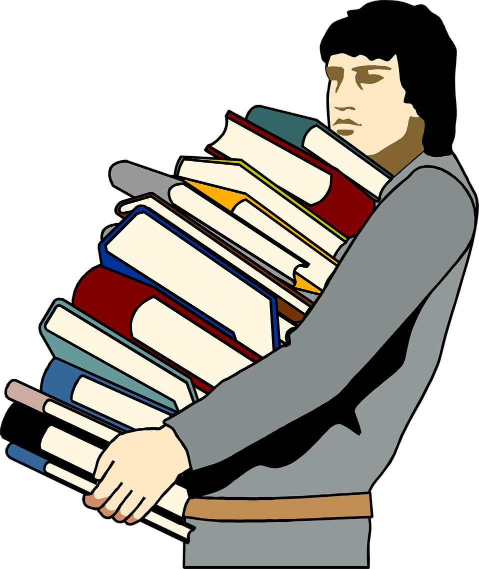 Man with book clipart png transparent library Books Man | Free Stock Photo | Illustration of a young man carrying ... png transparent library