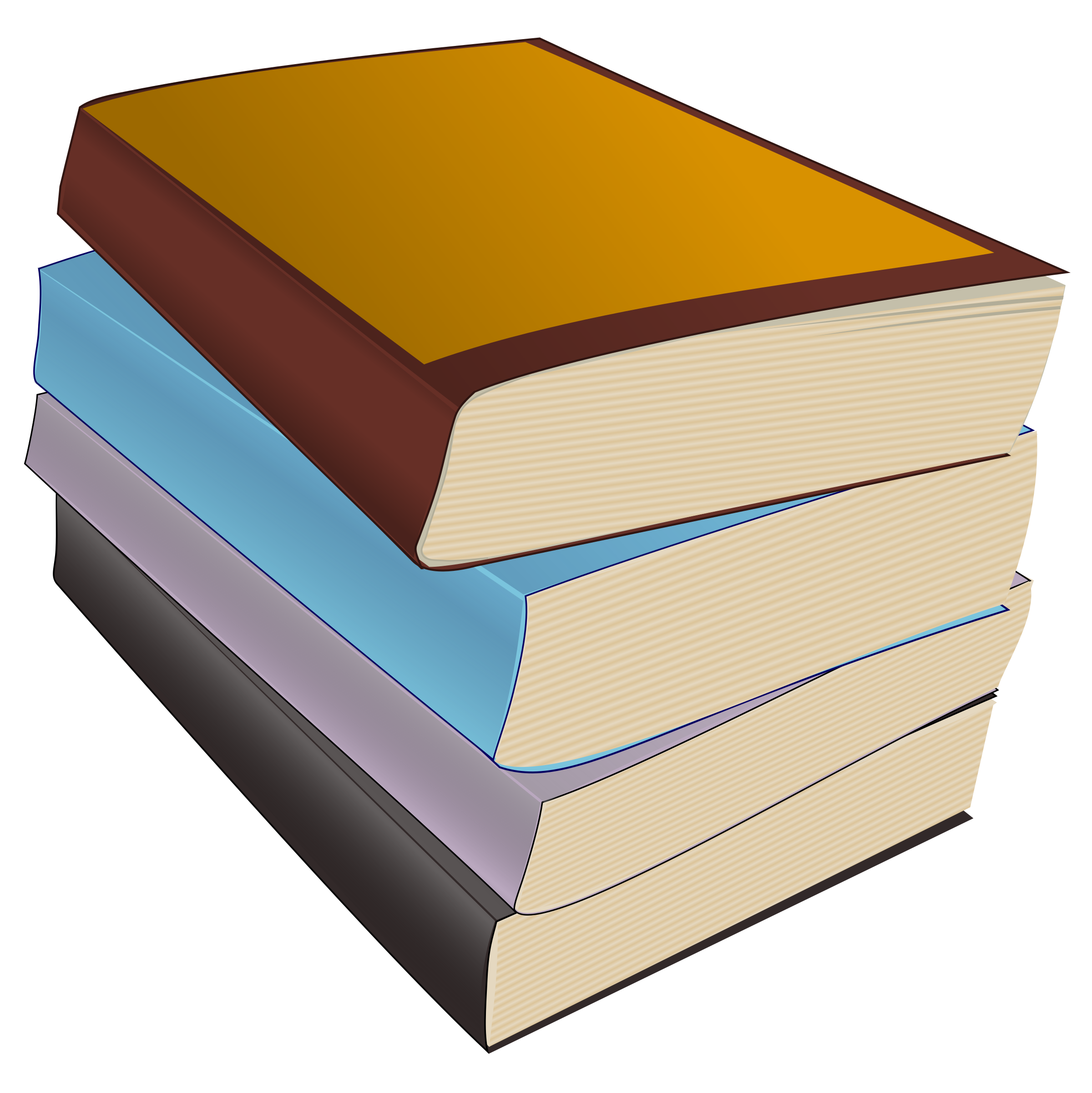 Book clipart stack image free stock Clipart - Stack of Paperbacks image free stock