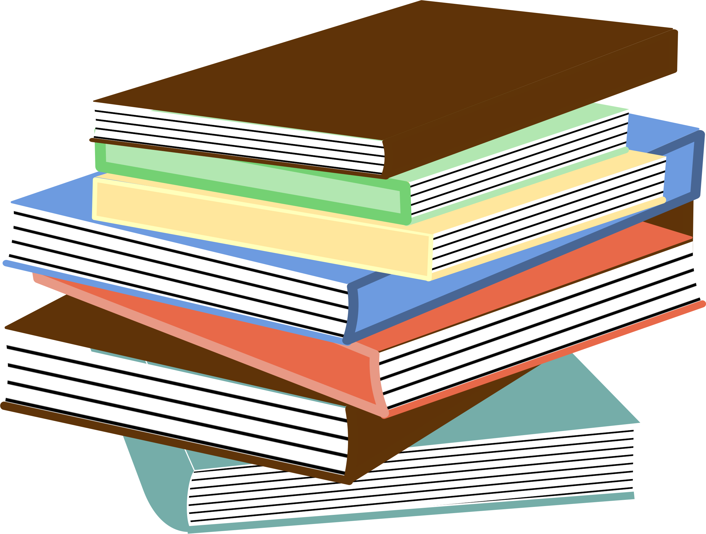 Book clipart stack image freeuse download Clipart - stack of books 01 image freeuse download