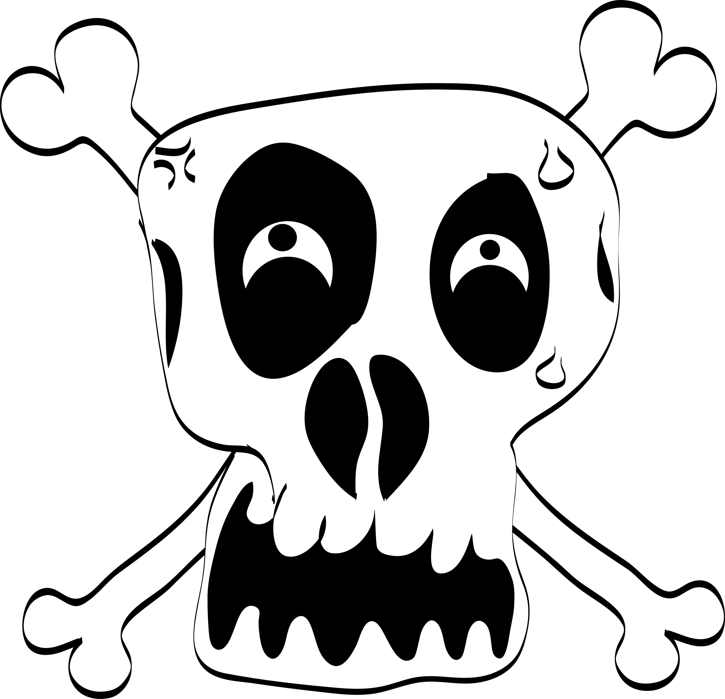 Book clipart transparent funny picture royalty free library Clipart - Freehand Funny Skull picture royalty free library