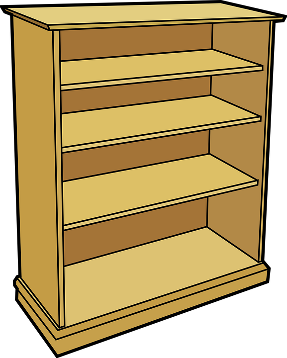 Book collection clipart clipart library stock Bookcase Clipart Food Shelf#3090035 clipart library stock