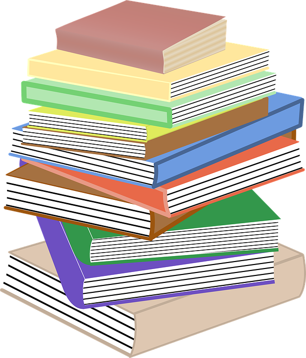 Graphics of books collection. Elementary book clipart