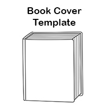 Book cover clipart. Free blank template report
